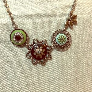 Jewelry - Reversible necklace silver w/ multi colored